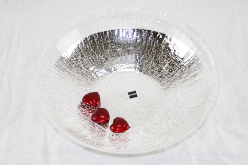 Centro tavola craquelè trasparente - Argenesi