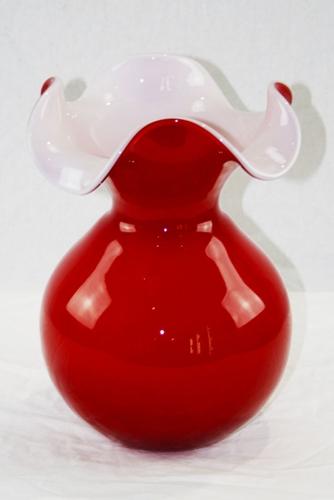 Vasetto primula in cristallo rosso