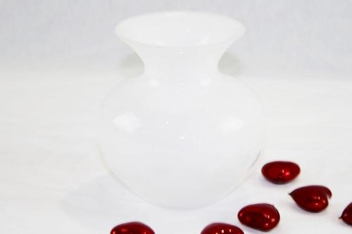 Vaso oboe in cristallo bianco