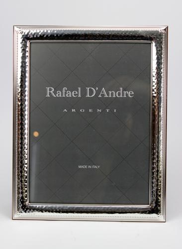 Cornice portafoto martellata con angoli decorati