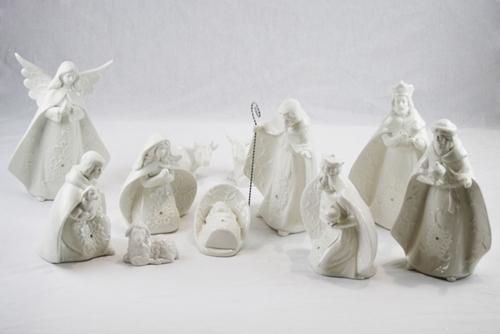 Presepe 11 pz - porcellana