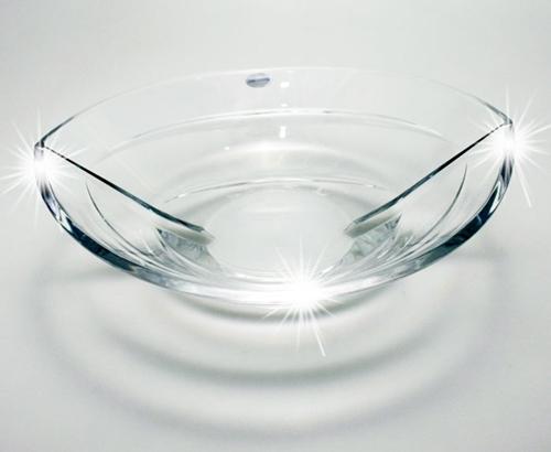 Coppa centrotavola in cristallo cm.31x28